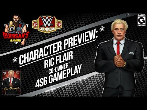 "Character Preview: Ric Flair ""Co-Owner"" 4SG Gameplay ! / WWE Champions 😺"