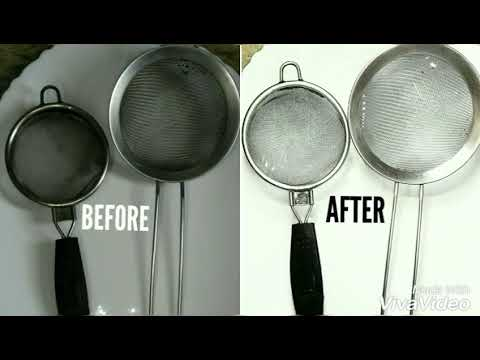 How To Clean Dirty Tea Strainer At Home -2 Ways To Clean Dirty Sieve By (Cook With Meryem)