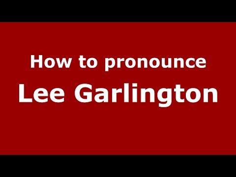 How to pronounce Lee Garlington American EnglishUS  PronounceNames.com