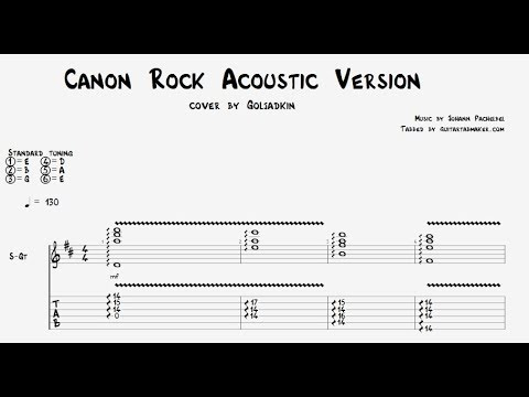 Canon Rock Tab Acoustic Fingerstyle Guitar Tab Pdf Guitar Pro