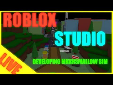 Roblox Studio Developing Marshmallow Simulator Live Youtube