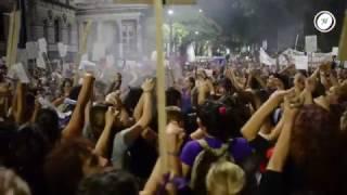 Marcha por el Día Internacional de la Mujer en Montevideo