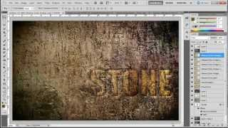 How to create a stone text effect in Photoshop