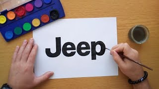 How to draw the Jeep logo