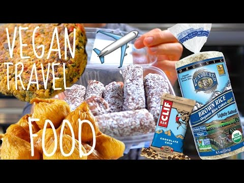 Eating Healthy On Long Plane Rides // Vegan Food Travel Packing Tips