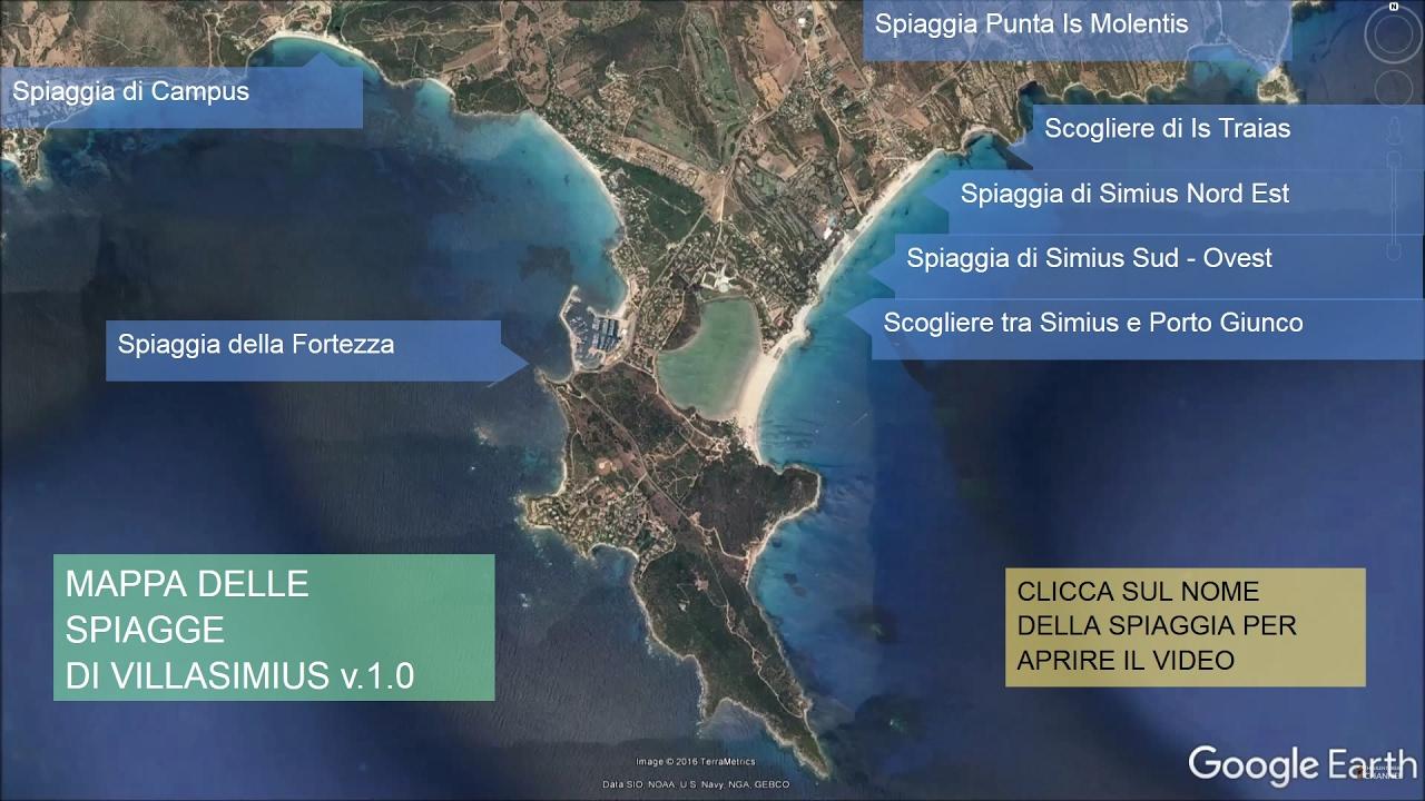 Spiagge Sardegna Cartina.Mappa Cliccabile Delle Spiagge Di Villasimius V 1 0 Solo Per Pc Youtube
