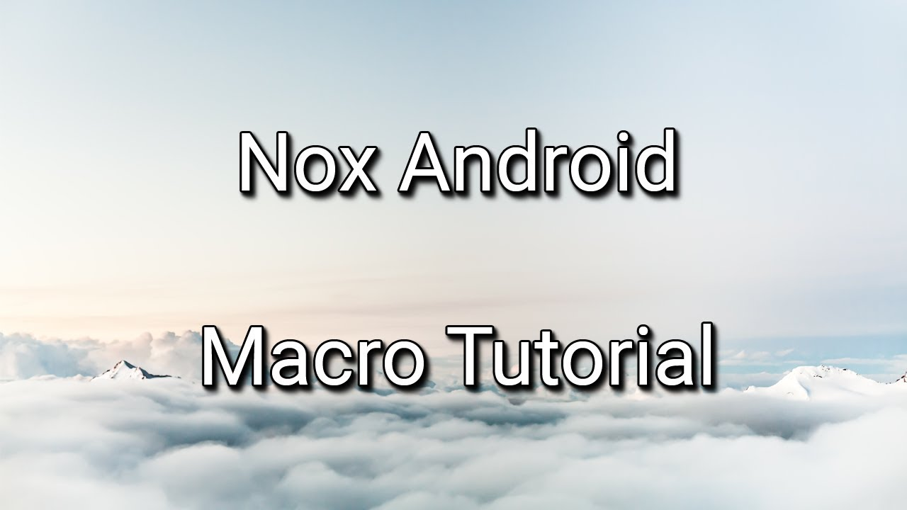 Nox Emulator - how to use macros