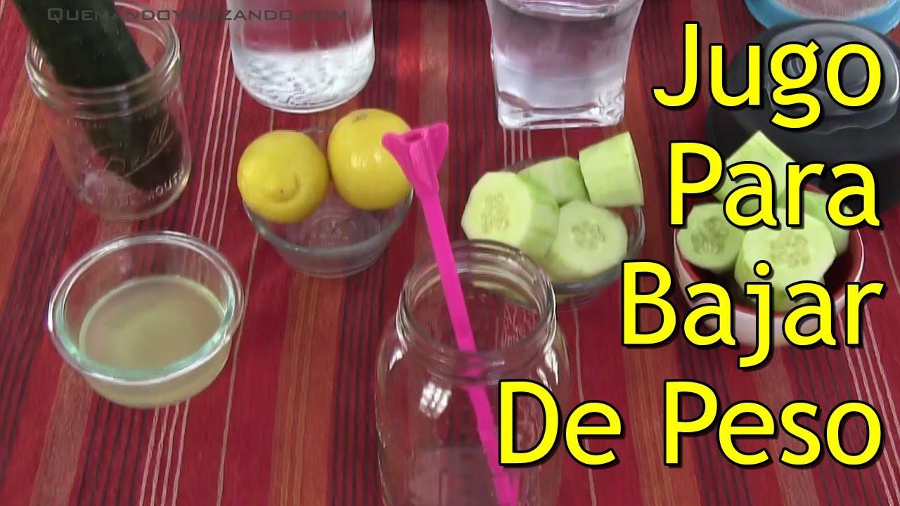 Como tomar pepino con limon para bajar de peso
