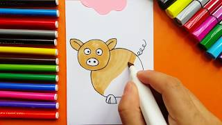 How To Draw Little Funny Pig