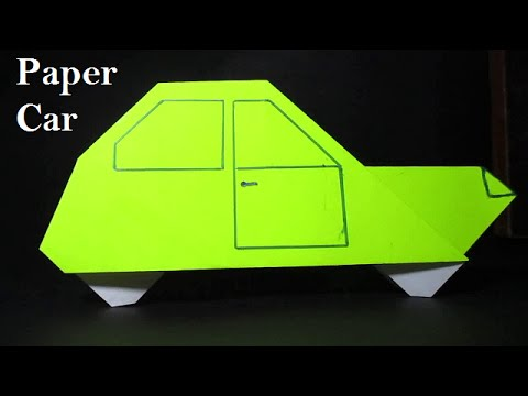 Origami Car Easy Origami Car Instructions Youtube