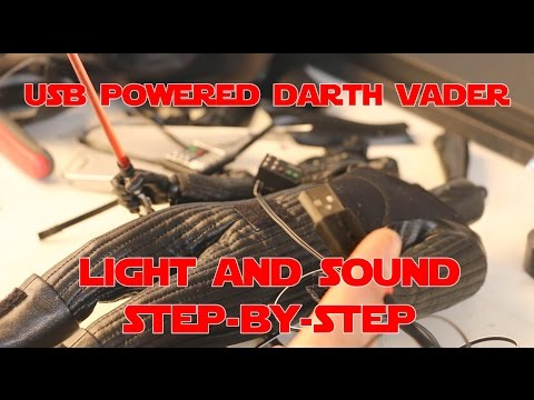 USB POWERED DARTH VADER, LIGHT AND SOUND. All Mods, Part 2 USB Electronics for Light and Sound