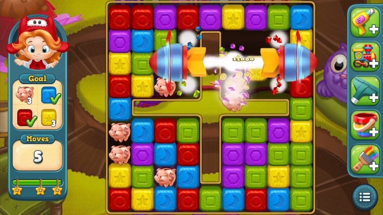 Toy Blast Play Now : Toy blast level three stars baby game play on let