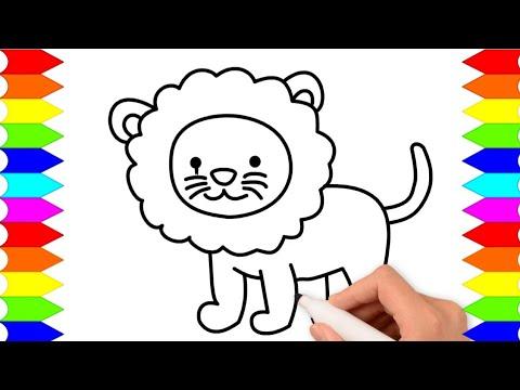 Cara Menggambar Singa Yang Mudah Belajar Menggambar Dan Mewarnai Anak Sd Tk Dan Paud Youtube