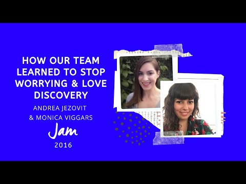How Our Team Learned to Stop Worrying and Love Discovery