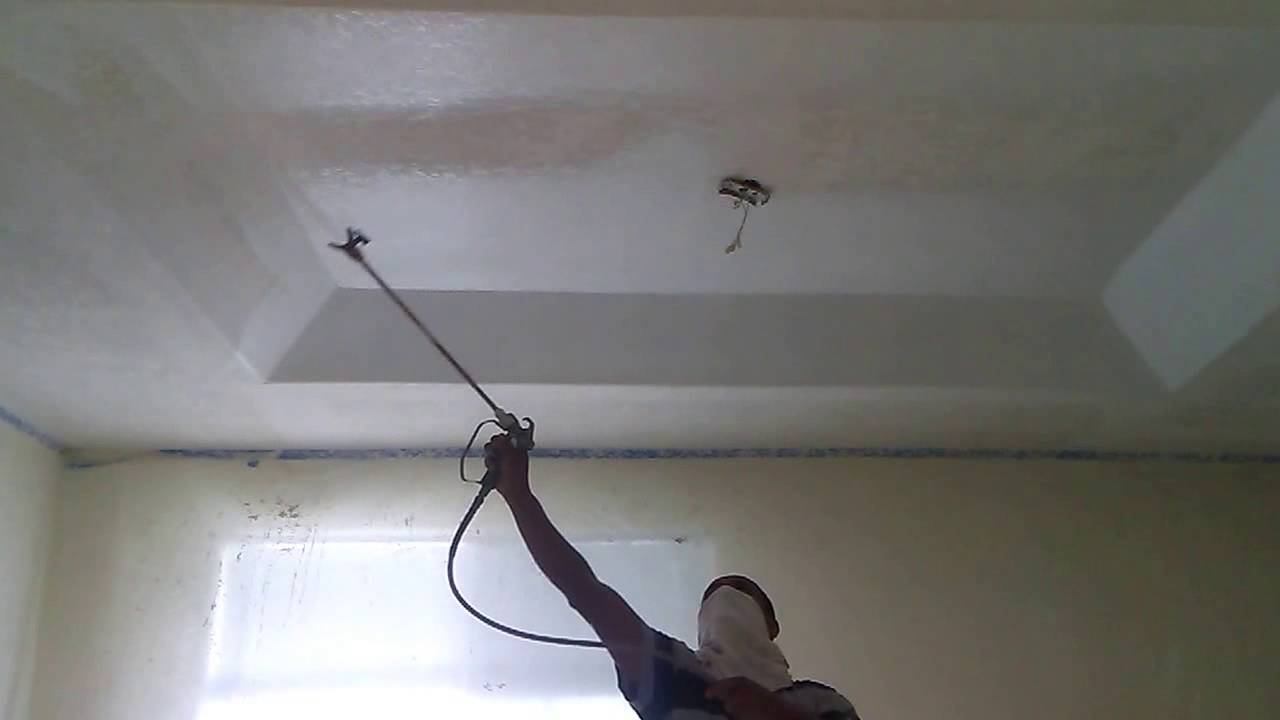 Knock Down Ceiling Texture Textured Knockdown Ceiling Youtube