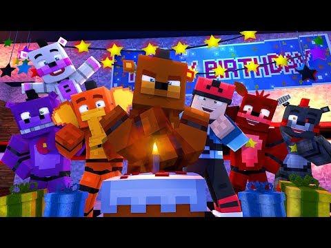 Minecraft FNAF 6 Pizzeria Simulator  FREDDYS BIRTHDAY! Minecraft Roleplay
