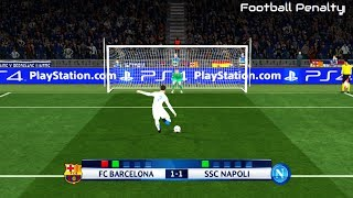 Pes 2017 | barcelona vs napoli penalty shootout gameplay pc