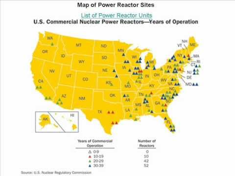Where Are Nuclear Power Plants Located In The United States - YouTube