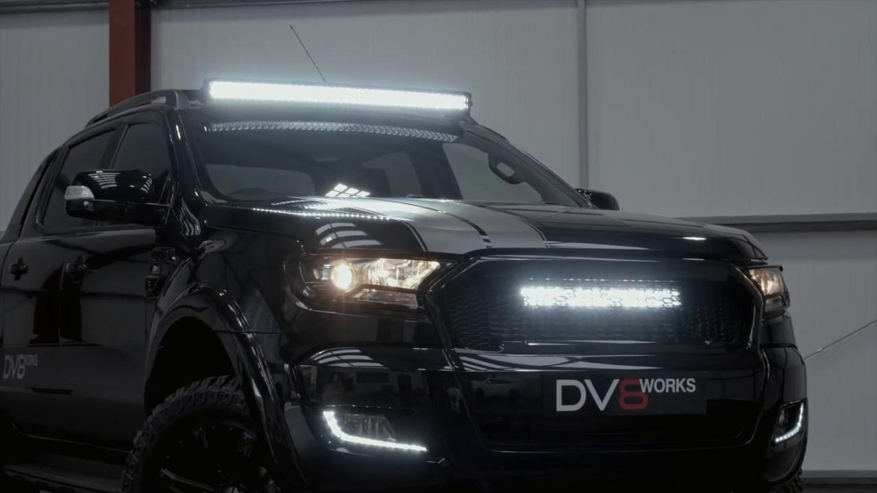 Dv8 Armoured Plus Ford Ranger Wildtrak With Light Upgrades