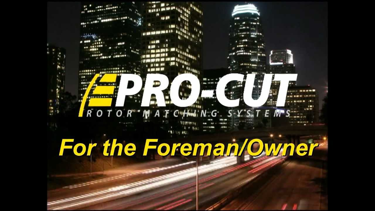 Jeff Hammond on Pro-Cut- for the SHOP OWNER or FOREMAN
