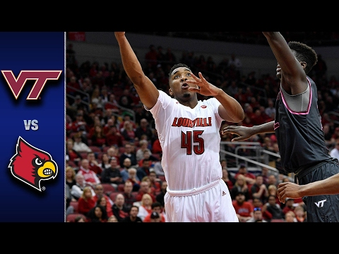 Virginia Tech vs.Louisville Men's Basketball Highlights (2016-17)