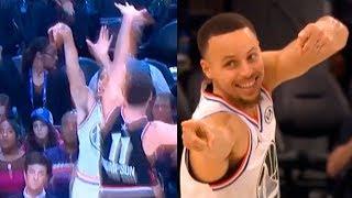 Steph Curry Three-Point AND 1 against Klay Thompson | Team LeBron vs Team Giannis