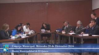 Concejo Municipal Miercoles 28 de Diciembre 2016