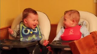 Best Twins Babies Playing Together - Funny Moments For Baby - Funny Baby Cute