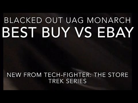 los angeles e8d13 12dd2 Blacked Out UAG Monarch For iPhone X -- Store Trek: Best Buy vs eBay
