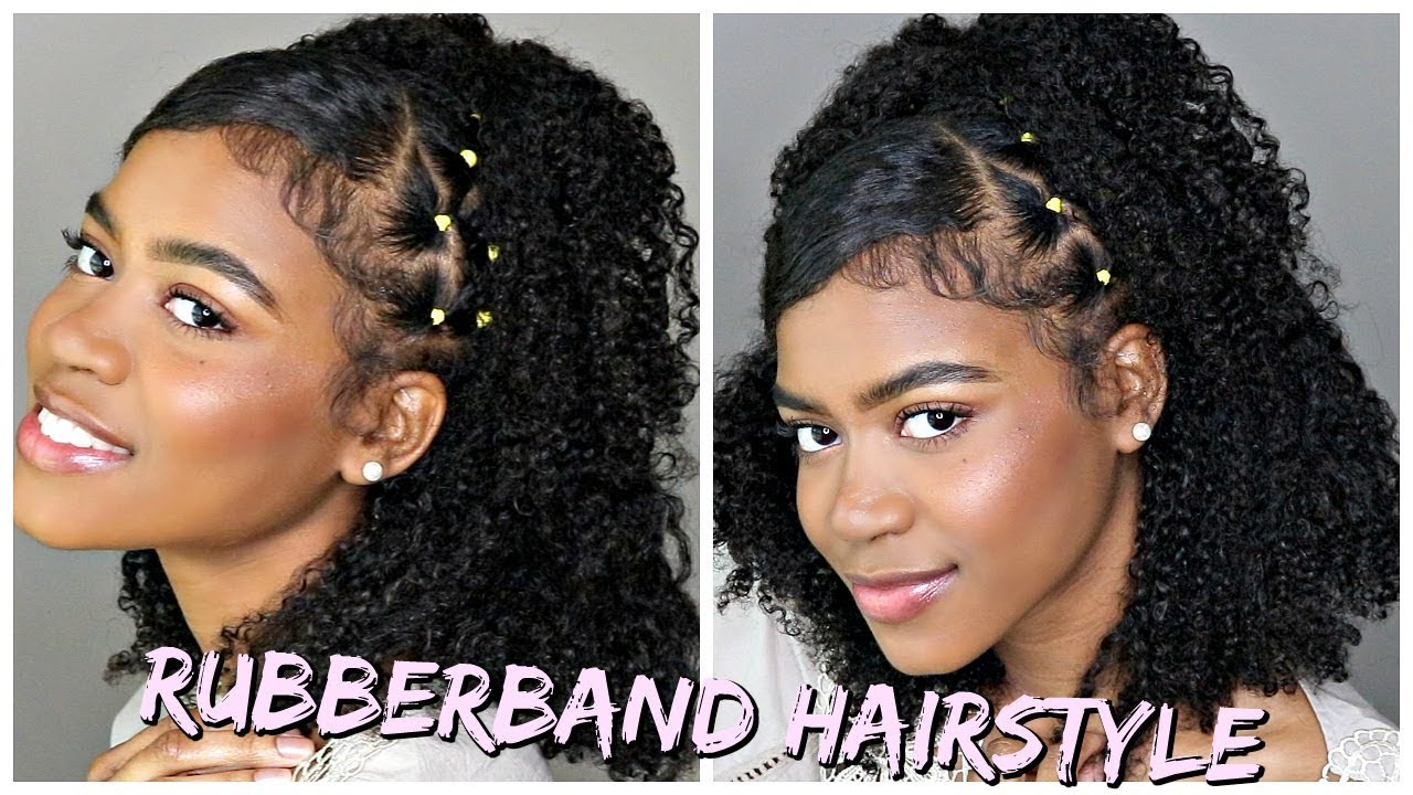 Trendy Rubber Band Style On Natural Curly Hair No Ecostyler Gel