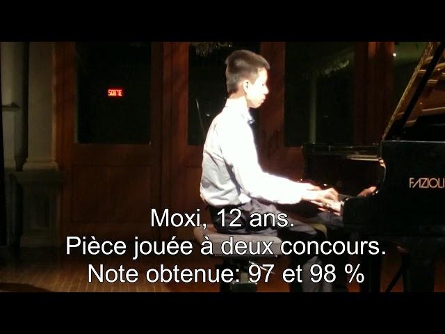 Cours de piano Montreal: Moxi recoit un prix