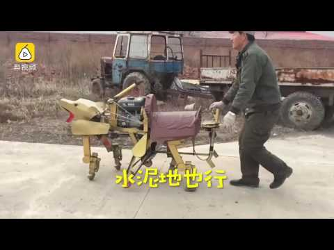 53-year-old Chinese farmer was issued a patent for his quadruped robot after 2 months of toil
