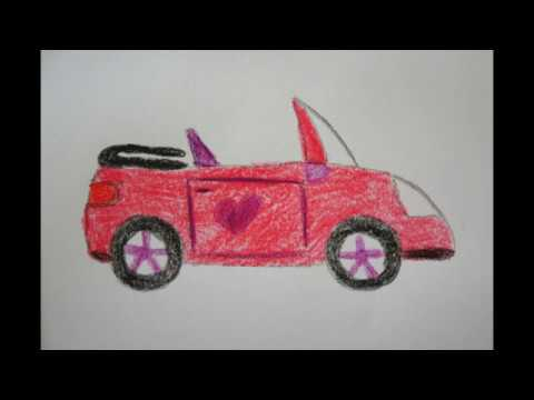 pinkes auto zeichnen f r kinder draw a pink car youtube. Black Bedroom Furniture Sets. Home Design Ideas