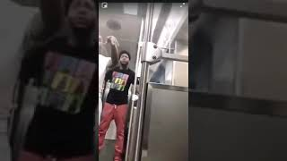 Dude Gets Beat By Transgender Woman On The Subway!