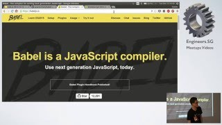 Running ES2015 code with Node v5 and Babel 6 - Talk.JS