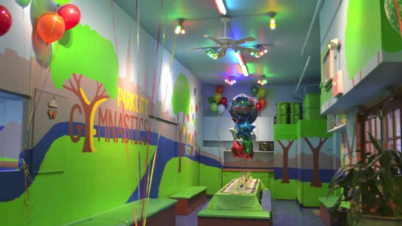 The Birthday Party Room at a Park City Gymnastics Birthday