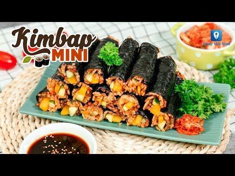 Hướng dẫn cách làm món KIMBAP MINI | Feedy TV