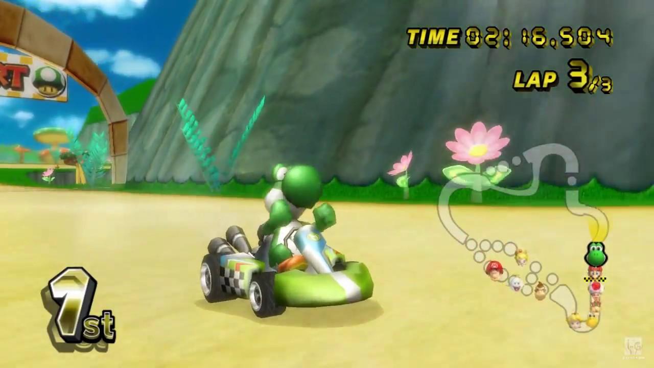 Mario Kart Wii Yoshi Gameplay Hd
