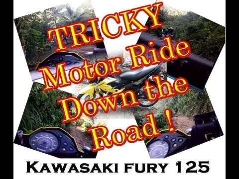 TRICKY MOTOR RIDE DOWN THE ROAD || KAWASAKI FURY 125 || SkyRenz007