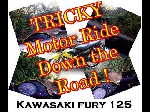 TRICKY MOTOR RIDE DOWN THE ROAD || KAWASAKI FURY 125 || SkyRenz007