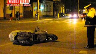 Mopedist rasturnat in intersectie - Gherla