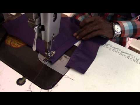 'V' Shoulder and Apple Cut Men Shirt Step by Step - 4. Making the Sleeve (English Audio)