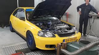 Dolf Dyno Tuned Honda Civic EJ9 JDM H22A H2B All Motor Dyno Pull