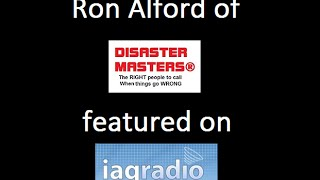 Ron Alford of Disaster Masters®, discusses Disposophobia™, on the IAQ Radio Show