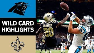 Panthers vs Saints  NFL Wild Card Game Highlights