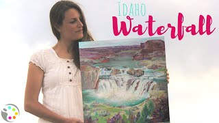 How To Paint a Waterfall | Acrylic Painting Tutorial