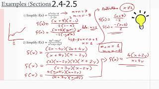 MCR3U/Grade 11 Functions: 2.4-2.5 (Examples)