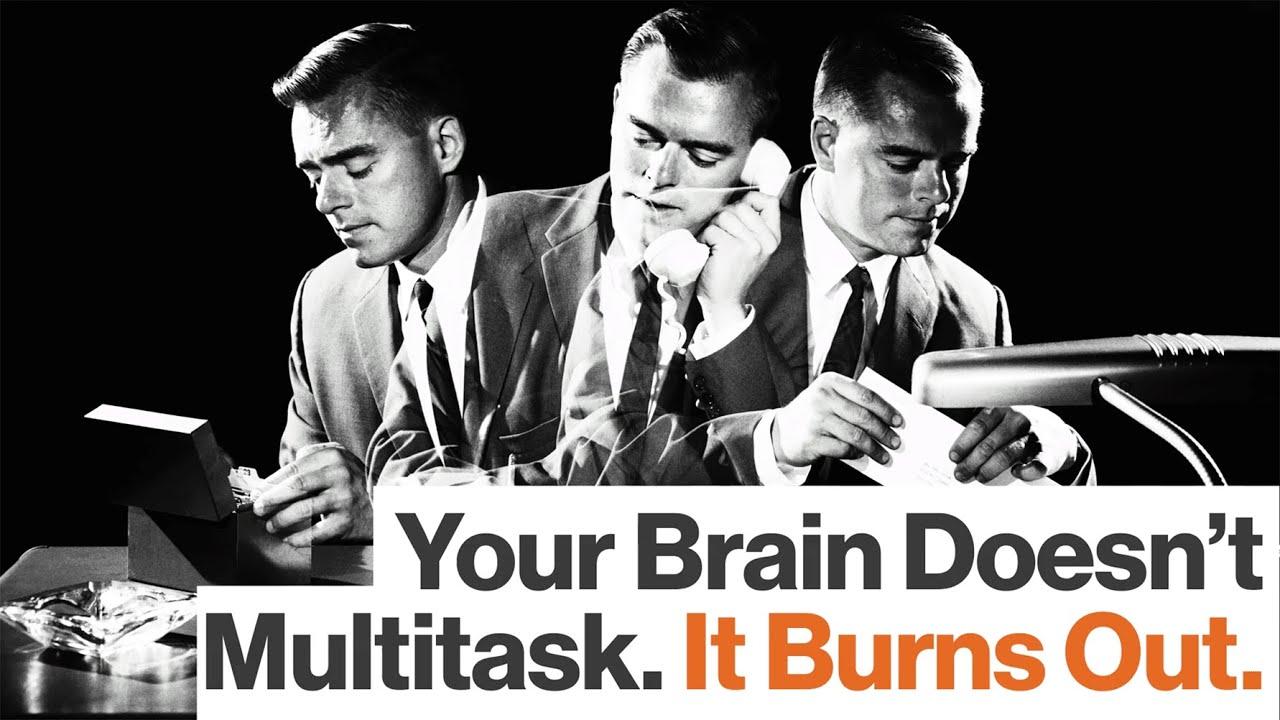 Multitasking And Brain's Work - Magazine cover