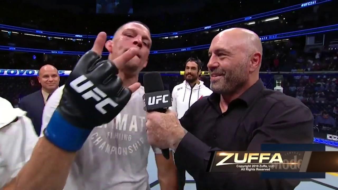 UFC 241: Nate Diaz Octagon Interview image