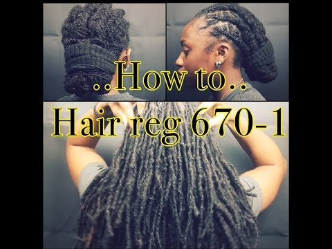 **HIGHLY REQUESTED** Army with dreads | how to | reg 670-1